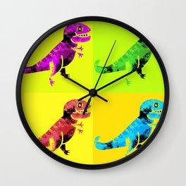 T Rex Pop Art Wall Clock