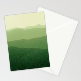 gradient landscape green Stationery Cards