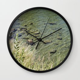 The Calm Along the River Wall Clock