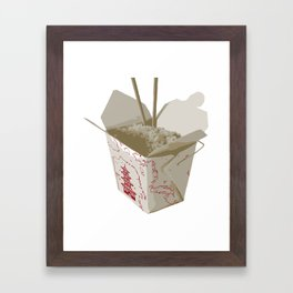 Chinese Food Map Framed Art Print