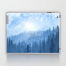 Here Comes The Sun - Misty Forest - Blue Laptop & iPad Skin