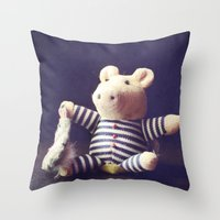 hug Throw Pillows featuring Hug by Sybille Sterk