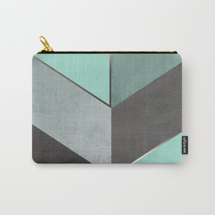 Chevron Geometric 1 Carry-All Pouch