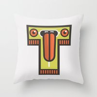 T for tongue Throw Pillow