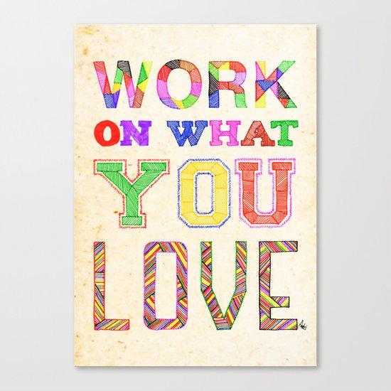 Life & Love Canvas Print