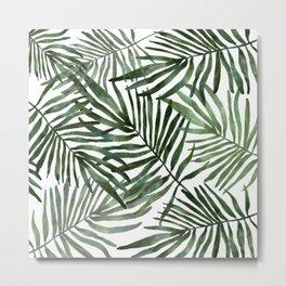 Watercolor simple leaves Metal Print