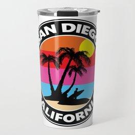 Surf San Diego California Travel Mug