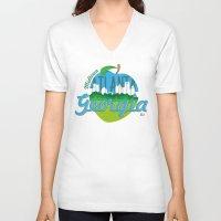 atlanta V-neck T-shirts featuring Midtown Atlanta Georgia by Niels Revers Design