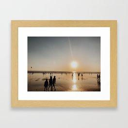 kuta sunset Framed Art Print