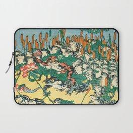 Fashionable Battle of Frogs by Kawanabe Kyosai, 1864 Laptop Sleeve
