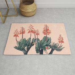 A blooming Plant Rug