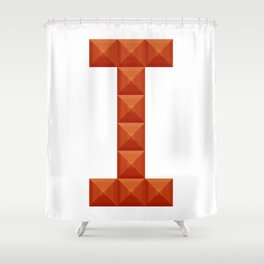 "Letter ""I"" print in beautiful design Fashion Modern Style Shower Curtain"
