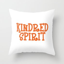 Kindred Spirit T-shirt Design Connection Of Two People Destined Looking For Each Other Taking Care Throw Pillow