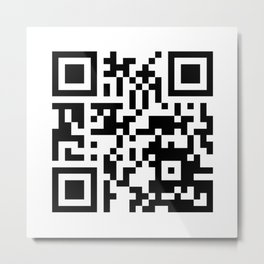 QR Code to site Pornhub Metal Print