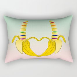 Gay Pride Banana Heart Rectangular Pillow