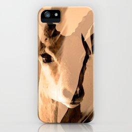Beautiful and fast - Impala portrait iPhone Case