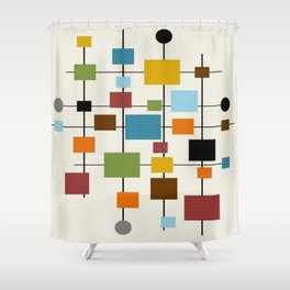 Mid-Century Modern Art 1.3 Shower Curtain