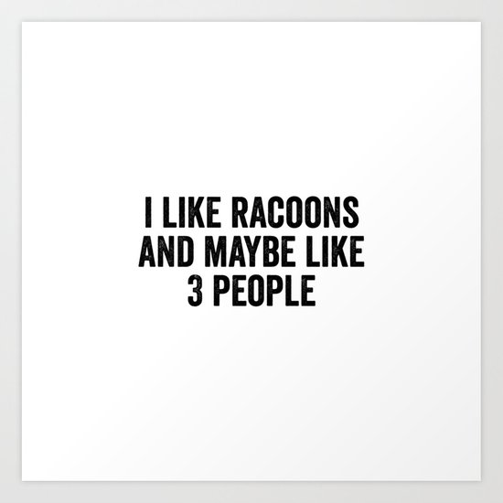 I like racoons and maybe like 3 people by bainermarket