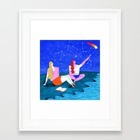emily rickard Framed Art Prints featuring Emily by Sophie Beer