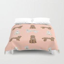 Labradoodle dog breed pet pattern labradoodles Duvet Cover