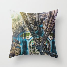 Dubai from the tallest building in the world Throw Pillow
