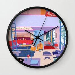 Eames House - Pencil illustration Wall Clock