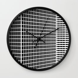 TWO BUILDINGS Wall Clock