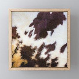 Faux Fur Cowhide Framed Mini Art Print