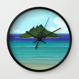 One Lost Island Wall Clock
