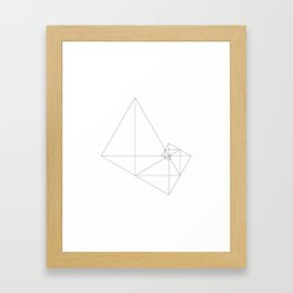 #449 Archimedes' turbine – Geometry Daily Framed Art Print