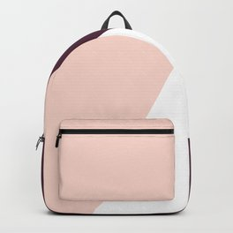 Elegant blush pink & burgundy geometric triangles Backpack