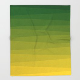 Shades of Grass - Line Gradient Pattern between Lime Green and Bright Yellow Throw Blanket