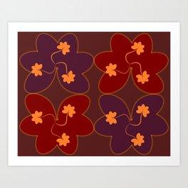 Glowing flowers Art Print