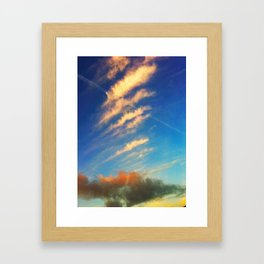 Beauty clouds Framed Art Print