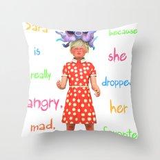 Angryocto - Sara's Candy Throw Pillow