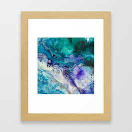 Gold Tides Framed Art Print