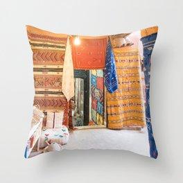 Marrakech Medina - Morocco Throw Pillow