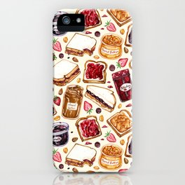 Peanut Butter and Jelly Watercolor iPhone Case