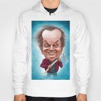 jack nicholson Hoodies featuring Jack Nicholson caricature by Jordygraph