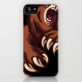 Grizzly Bear Attack Hunter Wild Beast Forest iPhone Case