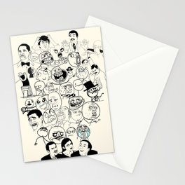 Funny Meme Print, Rage Faces Stationery Cards