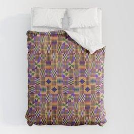 Kente Cloth // Anzac Yellow & Persian Blue Comforters