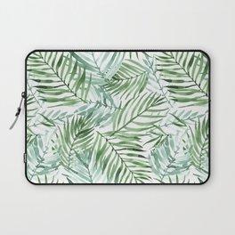 Watercolor palm leaves pattern Laptop Sleeve