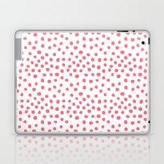 Coral dots pattern minimal painted polka dots Laptop & iPad Skin