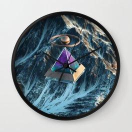 Floating Pyramid Wall Clock