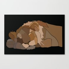Sleepy Lion Canvas Print