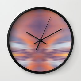 Maui Sunset Abstract Wall Clock