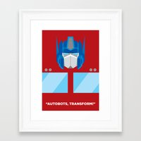 optimus prime Framed Art Prints featuring Optimus Prime by IlPizza