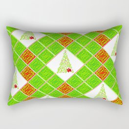 Swirly X-Mas Tree Rectangular Pillow
