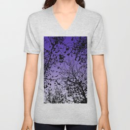 Violet sky Unisex V-Neck
